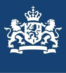 Min van Justitie blauwe logo